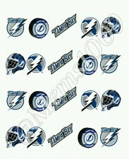 Tampa Bay Lightning  Nail decals (water decals) Hockey Nail decals!