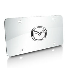 Mazda 3D Logo on Chrome Stainless Steel Metal License Plate