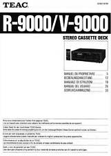 TEAC R-9000 V-9000 - USER OWNER'S MANUAL - MANUALE USO - EN FR DE IT ES NL -