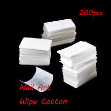 200pcs  UV Gel Tips Manicure Remover Cotton Nail Art Cleaner Wipes Lint Pads