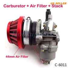 44mm Carburetor Air Filter Stack for 47cc 49cc ATV Dirt Pocket Bike Go Kart Red