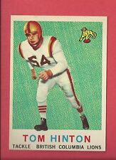 1959 TOPPS CFL FOOTBALL # 9 TOM HINTON