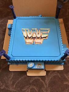 Vintage Hasbro WWE WWF Wrestling Ring With Posts. 1989 Titan Sports. Wrestlers.