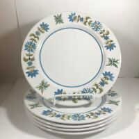 "Set of 5 MIKASA MEDITERRANIA 7-3/4"" Salad Bread Plates"