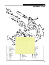 COLT OFFICIAL POLICE, PATERSON REVOLVER  EXPLODED VIEW & PARTS LIST 2011 AD