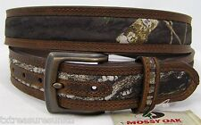 NOCONA belts men's western accessories mossy oak camo brown leather belt 46 NWT!