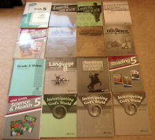Abeka Grade 5 18 books lot -History, Health, Science, Geography, Lang Mint Cond.