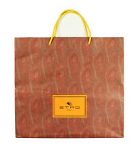 Authentic Etro Milano Brown Paper Shopping Gift Bag Big 16 x 15 x 5.5