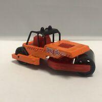Matchbox Orange Road Roller Steam Roller Hero City 1:64 Scale Diecast Mattel