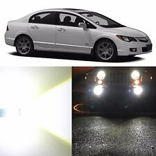 Alla Lighting Fog Light H11 Super Bright 6000K White 12V LED Bulbs for Acura CSX