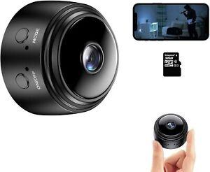 Mini Camera Cache Espion Interieur/Exterieur Securite Wifi Sans Fil Nocturne FR