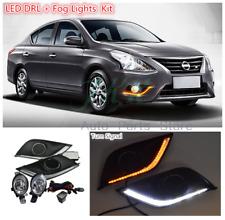 LED DRL Bezel Light Fog Light Wiring Switch Kit for Nissan Versa Sunny 2015-18 k