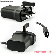 Genuine Nokia AC-18X Mains Charger Microsoft Micro USB 3 Pin UK Wall Charger