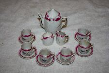 Vintage Ceramic Tea Set Dollhouse Miniatures