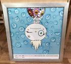 "Takashi Murakami 2001 Signed Framed Digital Print ""Wink"" Grand Central NYC"