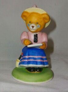 """A FRANKLIN MINT FINE PORCELAIN TEDDY BEAR 🐻 FIGURINE """"PHOEBE WOOLINTON"""""""
