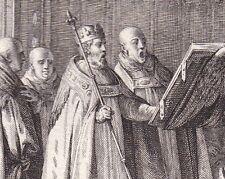 Gravure XVIIIe Robert Le Pieux Dévotion Charité Guérison