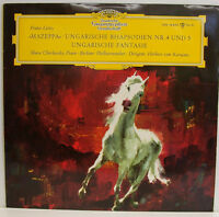 "Liszt Mazeppa UNGARISCHE RHAPSODIEN Fantasía Cherkassky Karajan 12"" LP (E555)"