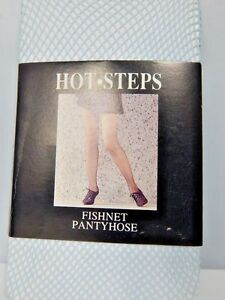New Light Blue Fishnet Mesh Fairy Kei Pantyhose Stockings Fetish Punk Tights M/L