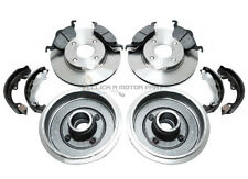 FORD FOCUS MK1 1.4 1.6 REAR 2 BRAKE DRUMS SHOES  SET & FRONT 2 DISCS & PADS NEW