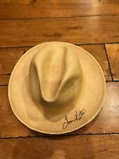 Tom Kite Signed Cowboy Beach Straw Hat Auto Autograph GOLF PGA