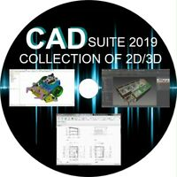 CAD 2D/3D Drawing - DXF Compatible Draw Software - 6 FULL PROGRAMS YOU CHOOSE