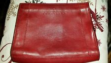 "Woman's Trussardi^ genuine leather Italy//makeup"" Bag 4×6"" inches♡♡♡"
