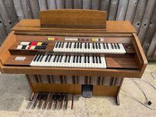 More details for marlborough leslie organ with built-in leslie rotating speaker + wooden stool