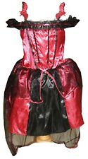 Red Vampire Bat Halloween Dress up Fancy Costume Party New 7-8 yrs