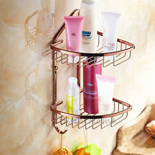 Luxury Gold Corner Shelf Bathroom Wall Mounted Shower Storage Basket Holder Rack