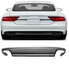 Für Audi A7 S7 4G Spoiler Diffusor S-Line Heckschürze Platiniumgrau Stoßsange =2