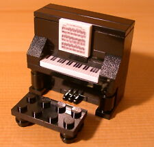 DadventureDan's CUSTOM UPRIGHT PIANO BLACK for LEGO town music teacher gift set