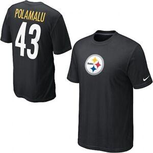 Men's Pittsburgh Steelers Nike Troy Polamalu T-Shirt Men's  Medium NWT $32
