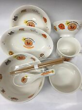 "New Tableware Children for Kids 8-piece Set of Pottery ""Soreike Anpanman"" JAPAN"