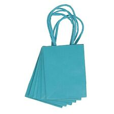"""6 Small Mini Turquoise Blue Gift Bags 3"""" x 4"""" - Bridesmaid Gifts - MW55034"""