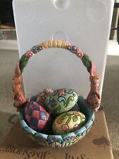 Jim Shore Enesco Heartwood Creek Easter Basket with Eggs, #4007945, Nib