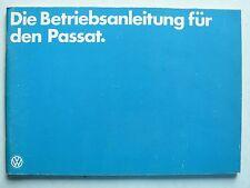 Betriebsanleitung Volkswagen Passat Vergaser und Diesel, 8.1978, 100 Seiten