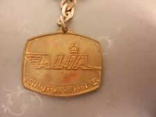 vintage key chain royal jordanian airlines Alia medal arabic aircraft vehicle