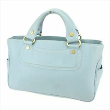 Celine Tote bag Blue leather Woman Authentic Used Q550