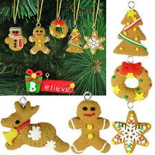 6PCS Christmas Snowman Snowflake Decoration Xmas Tree Ornaments Hanging Decor