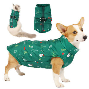 Xmas Camouflage Pet Dog Vest Down Jacket Warm Waterproof Puppy Cat Coat Outfits
