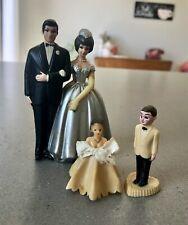 Vintage Plastic Bride & Groom Wedding Cake Topper, Hong Kong 2 Sets