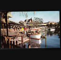 Disney Unused Postcard early 1960s Jungle Cruise Boat at Dock B9 Disneyland