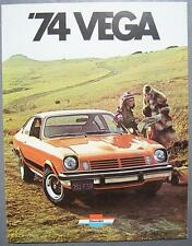 Orig 1974 GM Chevrolet Vega Notchback, Hatchback, Kammback, Wagon Car Brochure