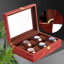 Organizador almacenamiento de joyería de reloj de pulsera exhibición 10 ranuras