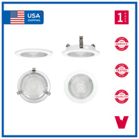 """4"""" 4 INCH Recessed Can Fresnel Clear Lens Bathroom Shower Trim Downlights"""