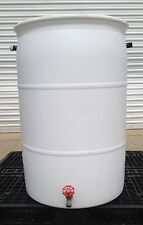BIG  WHITE  RAIN  BARREL  -  55 Gallon