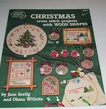 ASON PATTERN LEAFLET BOOK COUNTED CROSS STITCH XMAS WOOD SHAPES 8811 OOP 1987