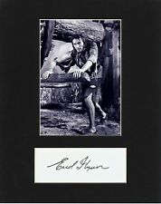 ERROL FLYNN  CUSTOM 8 by 10 MATTED REPRINT PHOTO & REPRINT  AUTOGRAPH