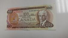 Bank of Canada - Banknote - Paper Money 1975 $100 Note AJX0163162 Lawson/Bouey